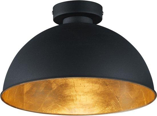 Trio Lighting Magna Eco - Plafondlamp - 1 lichts - Ø 310 mm - zwart
