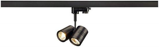 SLV BIMA II lampekop Railverlichting 2x100W Zwart 152230