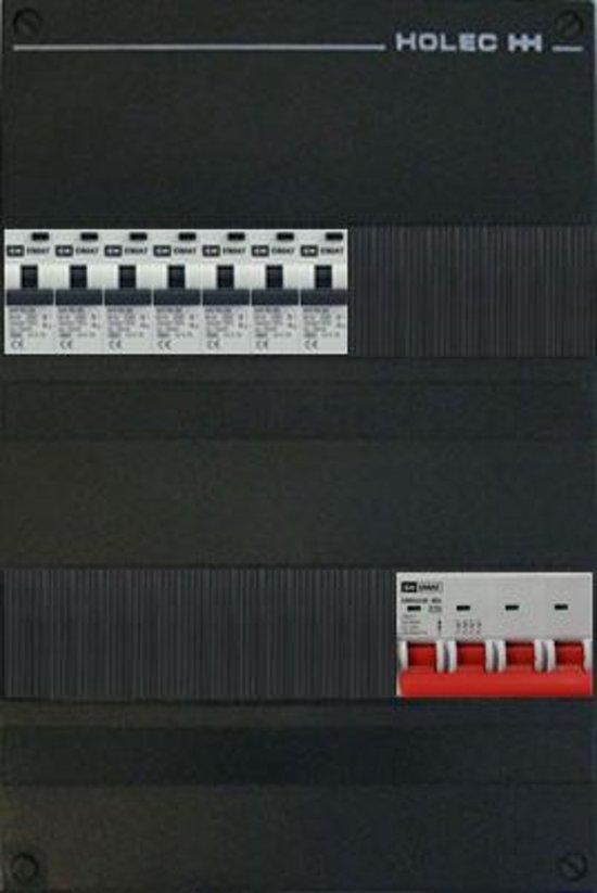 EMAT groepenkast 3 fase 7 aardlekautomaten en afmetingen 330x220 mm