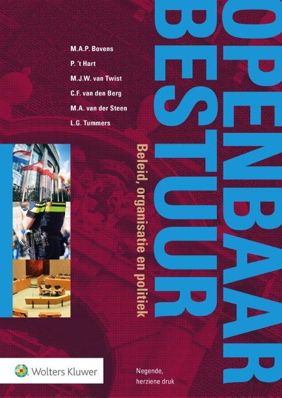 Boek cover Openbaar Bestuur, beleid, organisatie en politiek van Mark Bovens (Paperback)