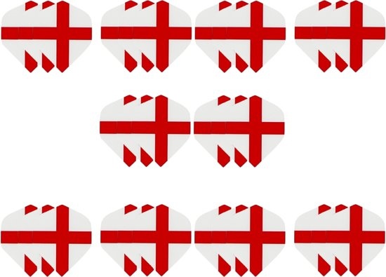 10 sets (30 stuks) Dragon dart St. George Cross  dart flights – darts flights