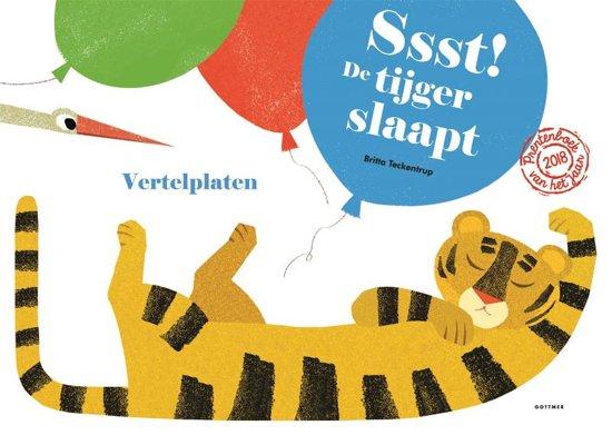 Boek cover Ssst! De tijger slaapt - Vertelplaten van Britta Teckentrup (Onbekend)