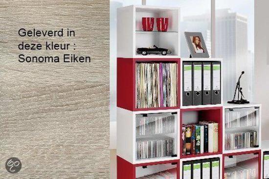 Bolcom Cd Dvd Lp Rek Kast Vcm Quattro Sonoma Eiken