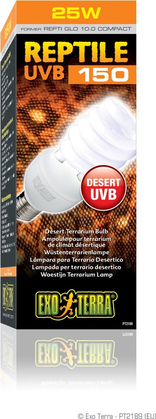 Exo Terra Terrarium verlichting Reptile UVB 25 watt - Wit - 25w