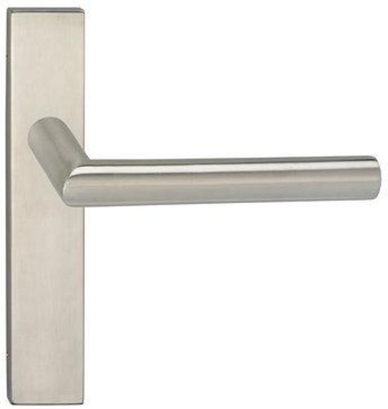 Impresso Harrow Deurbeslag - Voor binnen - Vierkant deurschild - RVS