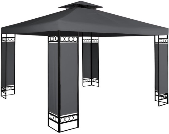 paviljoen partytent 3x3 lorcana antraciet. Black Bedroom Furniture Sets. Home Design Ideas