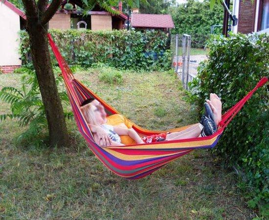 Opvouwbare 1 persoons Hangmat - Dubbele hangmat – Hammock – Inclusief opbergtas en touw
