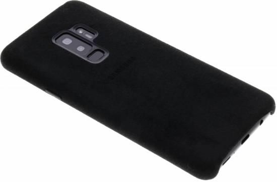 Samsung Alcantara leren cover - zwart - voor Samsung Galaxy S9 Plus
