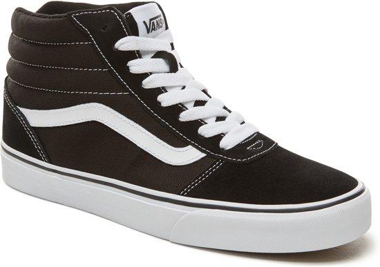Maat Heren Vans suede Ward canvas 43 Sneakers Black white Hi qqfwA