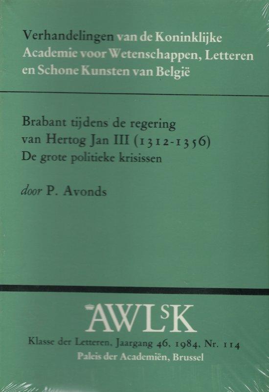 Brabant tydens regering hertog jan 3