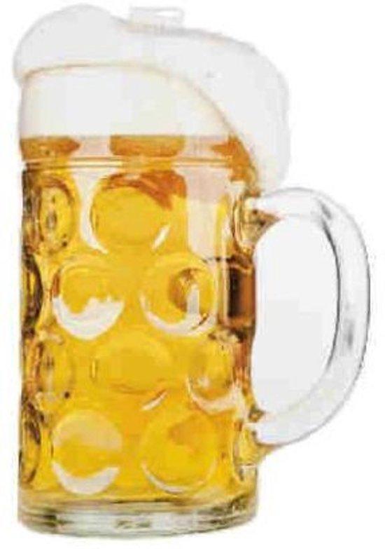 Wanddeco bierglas dubbelzijdig kart