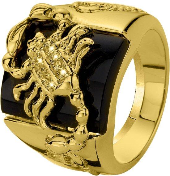 Lucardi Gold Plated Ring - Schorpioen - Maat 63