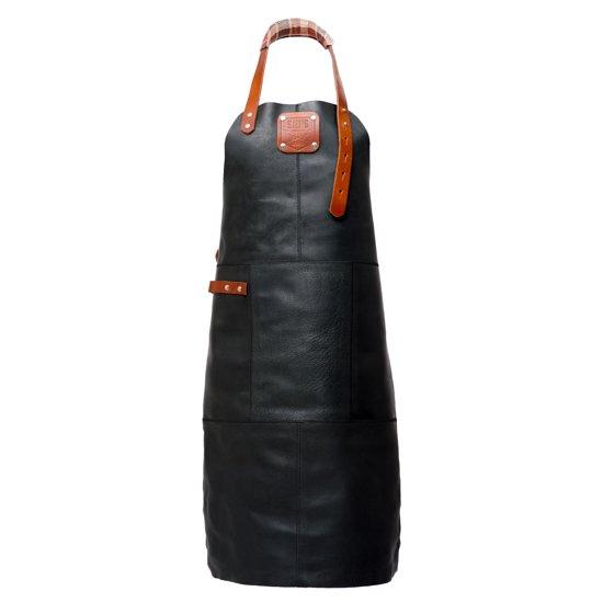 SJEFS® Leren BBQ Schort - Split leer - Zwart