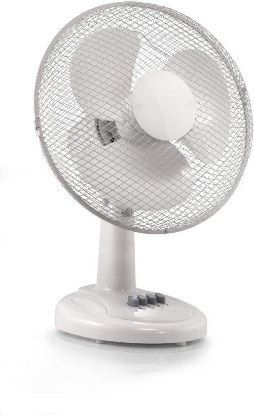 Interior Elegance Tafelventilator – Wit | Premium Luchtkoeling | Witte Ventilator voor op Tafel | Verkoeling | Ventilatoren in Kimswerd / Kimswert