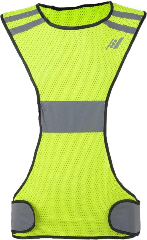 bol com rucanor safety running vest x veiligheidshesje fluorrucanor safety running vest x veiligheidshesje fluor geel reflectie maat l