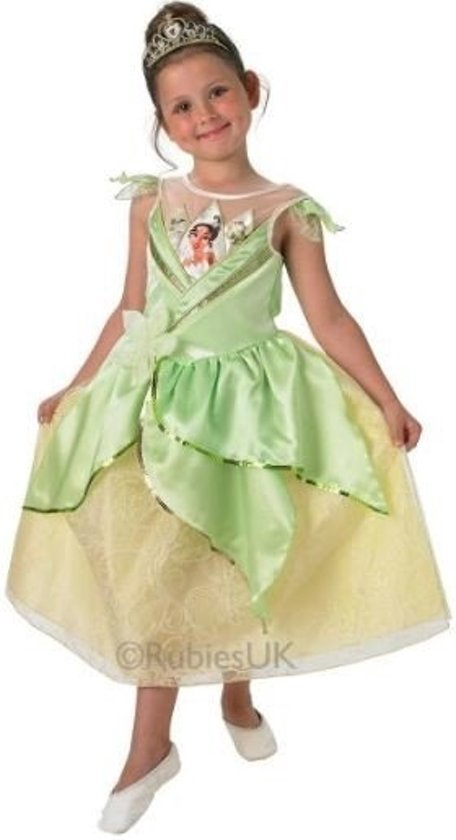 Bekend bol.com | Disney Tiana Jurk Stralend Kostuum Kind - Maat Medium  KM-25