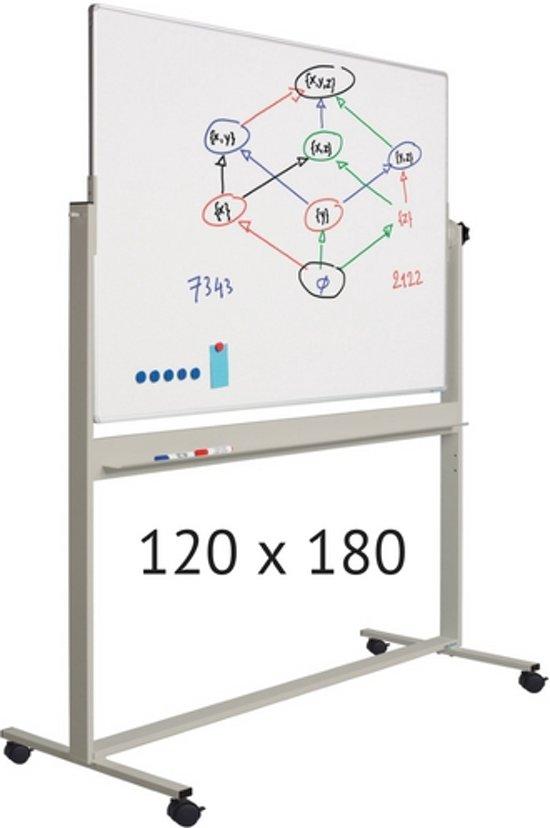 Verrijdbaar whiteboard | 120 x 180 cm