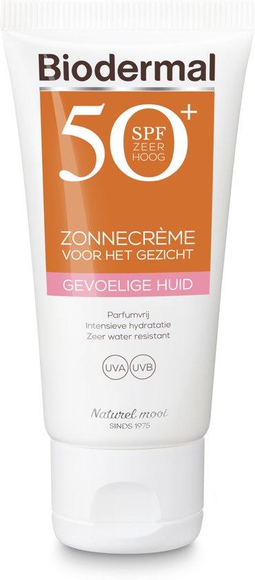 Biodermal Zon Zonnebrand - SPF 50 - 50ml -  voor Gevoelige huid