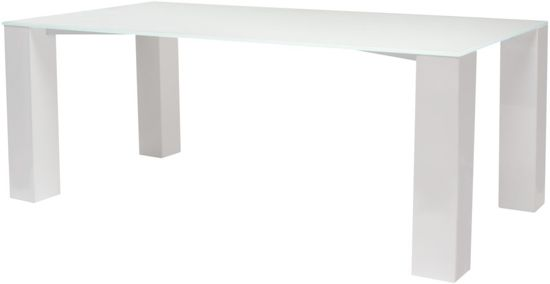 bol.com  Woonexpress Breede - Eettafel - Wit - 100x200 cm