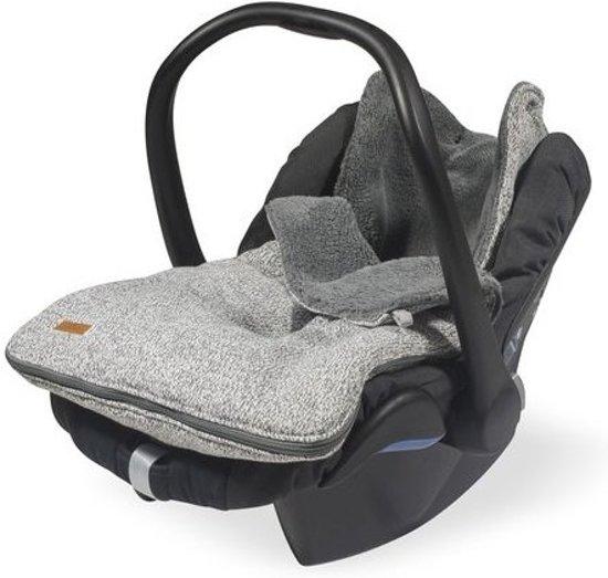 Jollein Comfortbag voetenzak Stonewashed knit grey Comfortbag Stonewashed knit Grey