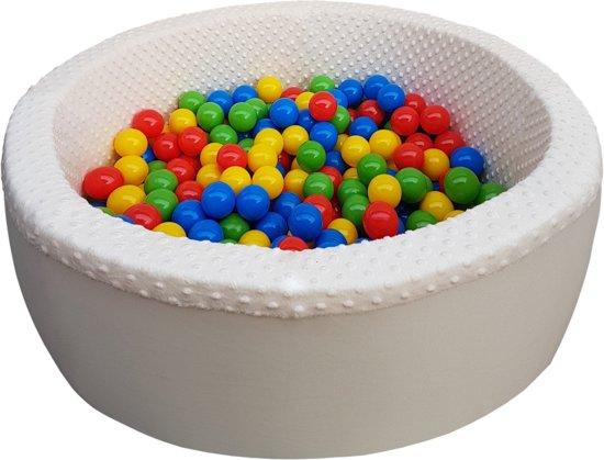 Ballenbad - stevige ballenbak - 90 x 40 cm - 300 ballen - rood blauw geel groen