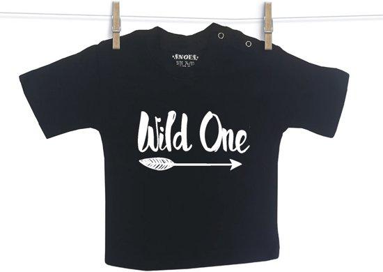 Baby Shirt zwart korte mouw Snoes Wild One 62/68