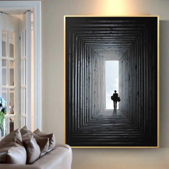 Foto Kunst Voor Aan De Muur.Canvas Schilderij Eindelijk Kunst Aan Je Muur Xl Woonkamer Poster Zwart 80 X 120 Cm