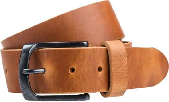 Cognac Pull-up jeansriem - 40 mm breed - Maat: 95 cm