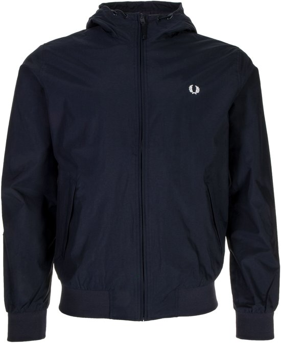 Fred Perry Brentham Hooded Jacket Heren Sportjas casual - Maat S  - Mannen - blauw