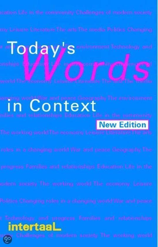 Today's Words in Context
