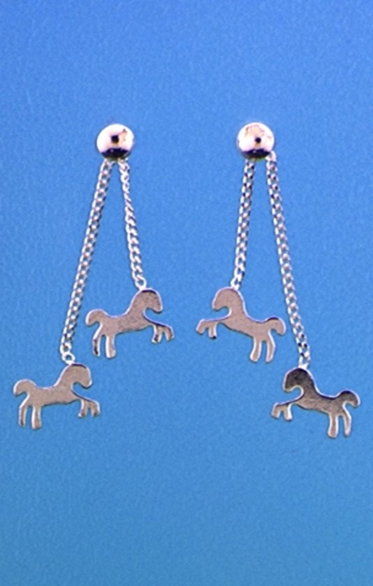 The Jewelry Collection Oorhangers Paard - Zilver