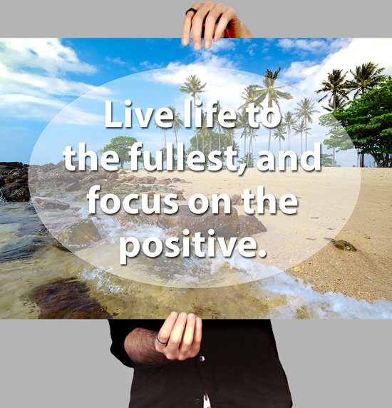 Bolcom Poster Life Quote Focus On Positive