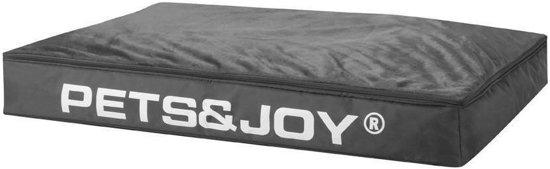 Pets & Joy Hondenkussen Dog Bed - L - 80 x 120 cm - Antraciet