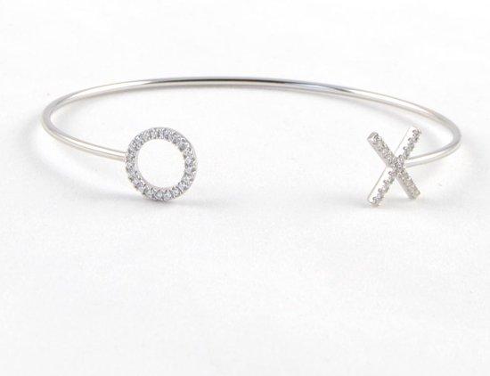 XO Armband sterling zilver met steentjes