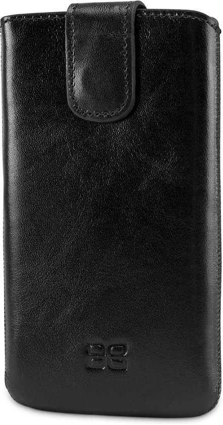 Bouletta Lederen iPhone 7 insteek hoesje - Sleeve - Rustic Black in Tolkamer