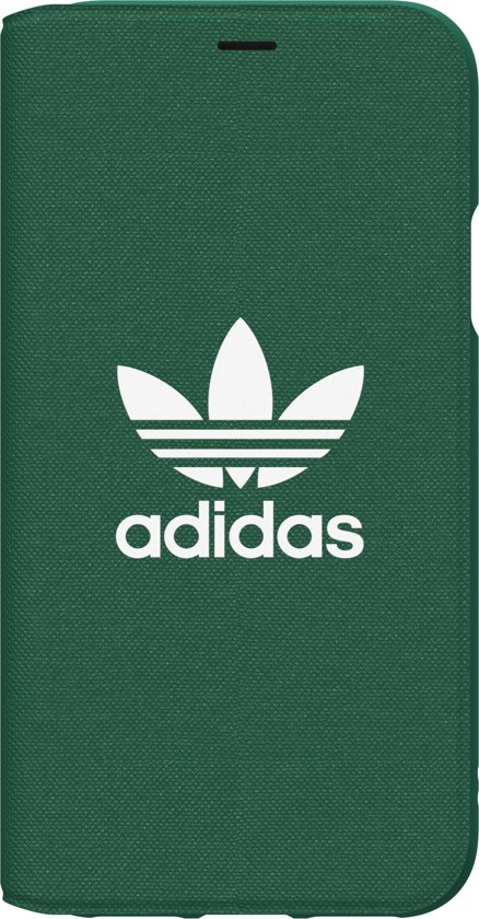 adidas OR Booklet Case ADICOLOR SS18 for iPhone XXs green