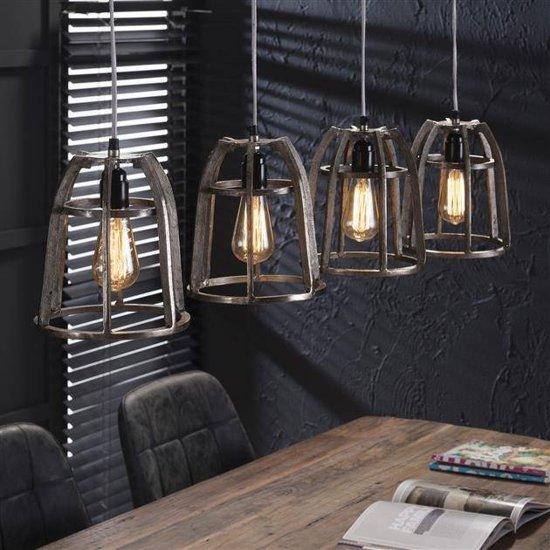 hanglamp 4x 21 draadstaal conisch. Black Bedroom Furniture Sets. Home Design Ideas