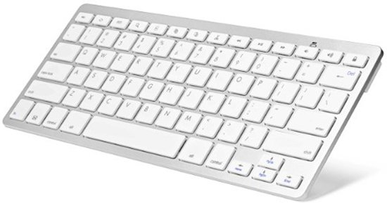 Draadloos Toetsenbord - Bluetooth 3.0 - Wit