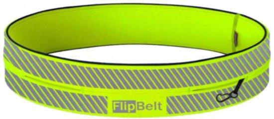 FlipBelt - Runners - Running belt - Hardlopen - Reflecterend - Neon Geel - Unisex - XL