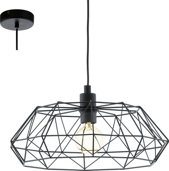 Beroemd bol.com | EGLO Vintage Carlton 2 - Hanglamp - 1 Lichts - Ø455 mm #GI88