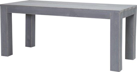 Salontafel Bijzettafel Steigerhout.Bol Com Steigerhouten Tafel Blokpoot 180 X 80 Cm Grijs