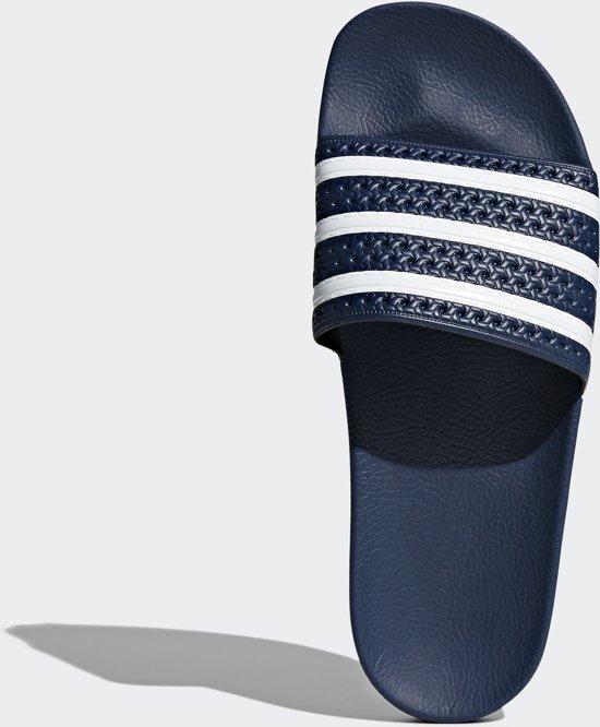 adidas Adilette Heren Slippers - Adiblue/White/Adiblue ...