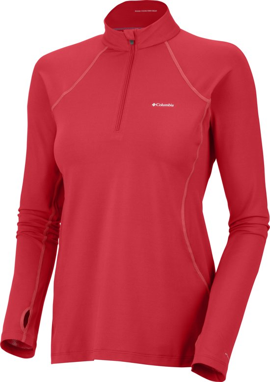 Columbia Baselayer Midweight 1/2 Zip - dames - thermoshirt - rood