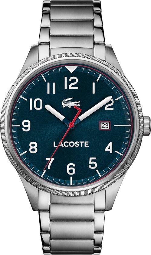 Lacoste LC2011022 CONTINENTAL - Polshorloge - Staal - Zilverkleurig - Ø 43mm