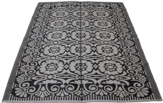 Vloerkleed - Gerecycled plastic - zwart/wit - 180 x 270 cm - Evenaar