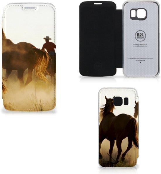 Samsung Galaxy S6 Uniek Ontworpen Hoes Cowboy in Kleeberg