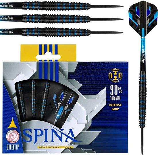 Harrows Steeltip Spina 90% Black Blue 23 gram Dartpijlen