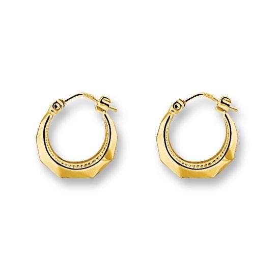 Huiscollectie 4001355 Gouden oorringen parelrand 14 mm