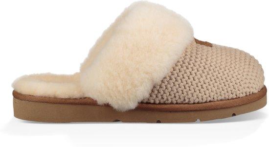 UGG Dames Pantoffels Cozy Knit Slipper Women's Beige Maat 40