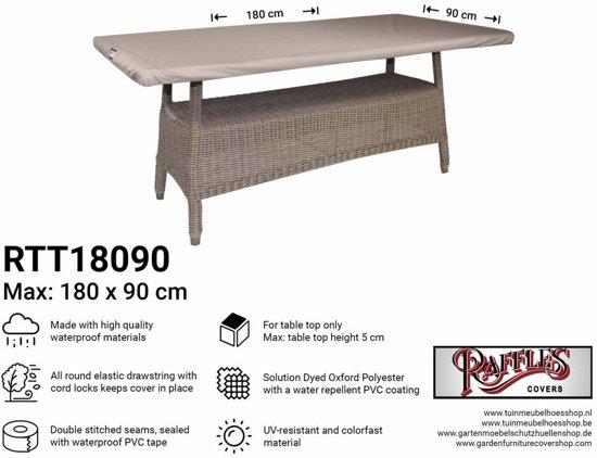Tafelblad 180 X 85.Raffles Covers Afdekhoes Tafelblad 180 X 90 Cm Rtt18090